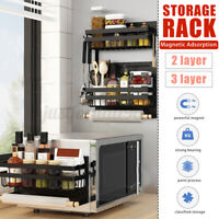 Kitchen Magnetic Rack Organizer Spice Storage Shelf Refrigerator Holder Tool