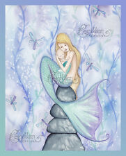 Dragonfly Lullaby Mermaid Print from Original Painting By Camille Grimshaw baby