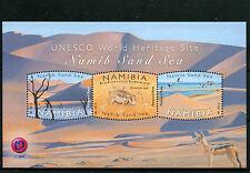 Namibia 2015 MNH UNESCO World Heritage Site Namib Sand Sea 3v M/S Birds Stamps