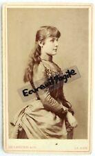 CDV PHOTO 1887 DE LAVIETER LA HAYE nommé SUZE MEYER cheveux longs robe faux cul
