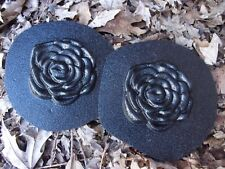 """Rose 2 plastic embellishment molds 3"""" each x 1/4"""" thick"""
