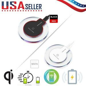 2 Pack QI Wireless Charger Fast Charging Pad Dock Mat Apple iPhone Galaxy