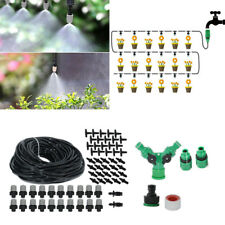 20M Micro Irrigation Watering Kit Outdoor Garden Plant Greenhouse Drip System J