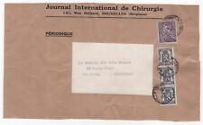 1939 BELGIUM Cover Front BRUSSELS to EDINBURGH SCOTLAND Journal Int de Chirurgie