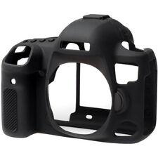 EasyCover silicona piel cubierta Canon EOS 5D Mark 4 in (approx. 10.16 cm) NEGRO + Pantalla IV Protector