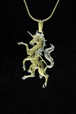 "Unicorn Pendant & Necklace. Hand cut African Coin - 3/4"" in Diameter, ( # 606C )"