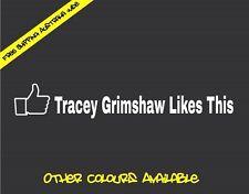 TRACEY GRIMSHAW LIKES THIS Sticker Decal JDM Drift Turbo Hoon Car Ute
