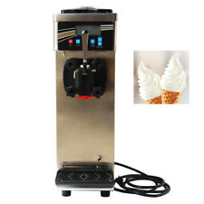 110v Commercial Countertop Soft Serve Ice Cream Machine Single Cylinder 10 15lh