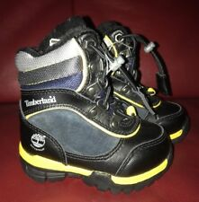 TIMBERLAND NOREASTER BLACK BLUE GREY WINTER FUR BABY TODDLER SIZE 4 BOOTS 34859