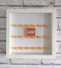 Mini Figures White Display Case Frame Yellow Lego Brick Series         Lego Logo