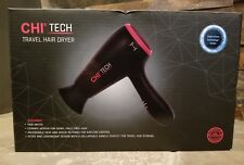CHI Tech Black Travel Hair Dryer 1400 Watts - GF8230 - Dual Voltage NEW