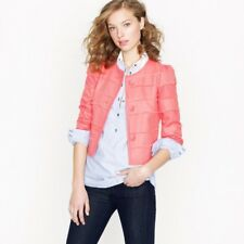 J CREW Cropped Fray Jacket 6 $148 Rose Short Jacket