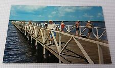 Port Charlotte Floriday 450 Ft. Fishing Pier Postcard Unposted Blue Cloudy Skies