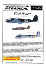 Xtra Decals 1/72 THE HISTORY OF KAMPFGESCHWADER 51 (KG 51)