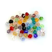 100PCS Crystal Glass Faceted Loose Spacer Beads lot Jewelry 3mm DIY 6mm 4mm G9S6