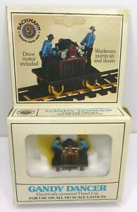 Vintage Bachmann Gandy Dancer, Electric Powered, No 46-1202 in Box, HO Scale