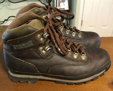 Timberland Euro Hiker Men's  Size 8W Boots Brown Leather Hiking Trail 95310