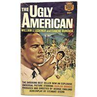 Vtg 1963 THE UGLY AMERICAN Lederer Burick Paperback Marlon Brando Movie Tie-In