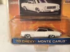 70 MONTE CARLO DUB CITY CHEVY OLD SKOOL White   jada 1/64 SLAMMED LOWRIDER