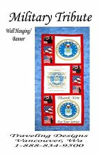 Air Force Tribute Emblem, Creed & Thank You Pattern and Cotton Panels Quilt Kit