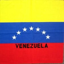 VENEZUELA FLAG BANDANA Cotton Scarves Scarf Head Hair Neck Arm Band Skull Wrap