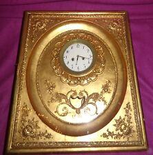 Antike Rahmenuhr um 1830 Blattgold Wien Wanduhr Biedermeier Uhr Miller & Sohn 6