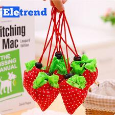 Portable Strawberry Foldable Shopping Tote Eco Reusable Recycle Bag Handbag
