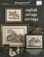 English Cottage Settings for Counted Cross Stitch Book 96 1st Printing 1992