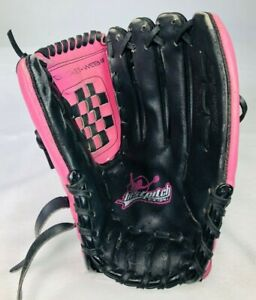 RIGHT HT - Rawlings Softball Glove GIRLS YOUTH 12 Inch FP22SB Pink Black