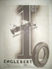 PUBLICITE DE PRESSE ENGLEBERT PNEU 1er AU GRAND PRIX DE LA MARNE ALFA ROMEO 1935