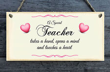 A Special Teacher Personalised Plaque - gift home Humour Wood Present