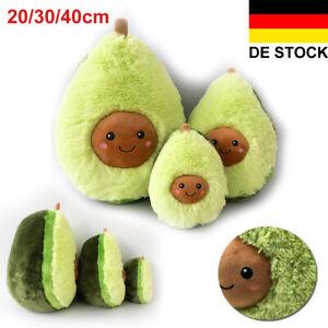 Plüsch Spielzeug Avocado Kissen Puppe Weich Pillow Kopfkissen Kinder Geschenk DE