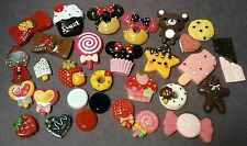 Candy Dessert Resin Flatback Cabochon Kawaii Craft Lot DIY Bow decoden Phone Kit