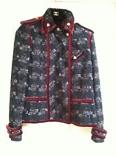 Chanel 09A NEW PARIS- MOSCOW Tweed Satin Multicolor Jacket Coat FR46-44 $8K