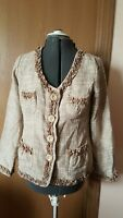 Monroe and main women's jacket Sz 10 taupe