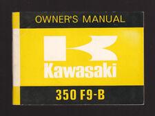 1973 KAWASAKI 350 F9-B  MOTORCYCLE OWNER`S MANUAL / PART NO. 99997-813