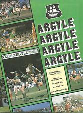 Plymouth Argyle v Blackpool - Div 3 - 11/10/1980 - Football Programme