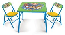 Paw Patrol Kids Erasable Activity Table Includes 2 Chairs with Safety Lock