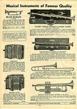 1933 PAPER AD Madelon Clarinet Loveri Boehm American Professional Trumpet
