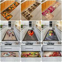 3D Non Slip Kitchen Mat Anti Slip Washable Rugs Small & Large Kitchen Floor Mats