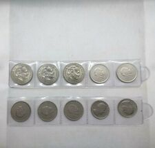 LOT 10 PIECES COINS MONACO PRINCE RAINIER III 1982 1979 5 FRANC 2 FRANCS 1 FRANC