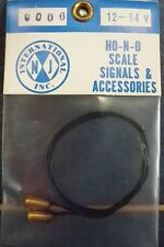 NJ INTERNATIONAL-#9006 SIGNAL LIGHTS-PKG OF 2 - WHITE- HO SCALE -OLD STOCK/NIP
