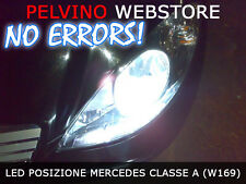 """COPPIA LAMPADINE POSIZIONI A LED BIANCO """"MERCEDES CLASSE A (W169)"""" - NO ERRORS!"""