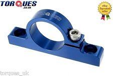 Billet Aluminium Fuel Filter Cradle / Clamp In Blue 30mm I.D