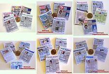 2003# 5 Miniatur Zeitungen - Deutschland - Puppenhaus - Puppenstube - M1zu12
