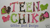 Bo Bunny *TEEN CHiCK* Chipboard Alphabet Letters