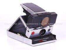 EX++ Polaroid SX-70 Land film camera SONAR Onestep Silver w/black leather
