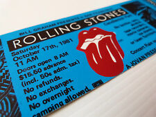 Rolling Stones Unused Ticket San Francisco Candlestick Park 1981 Tattoo You (1)