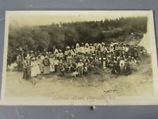 Rppc of Large Group of Kootenay Indians in British Columbia Canada