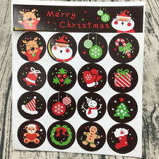 160pcs/10 sheets Christmas Envelope Seal Sticker Gift Label Stickers Decoration